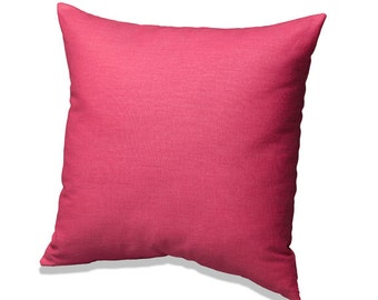 Hot Pink Solid Throw Pillow