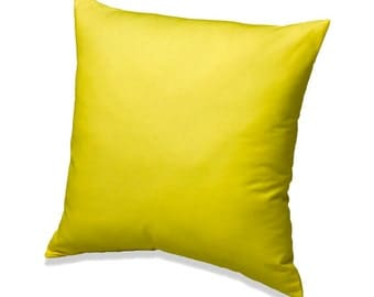 Yellow Solid Throw Pillow