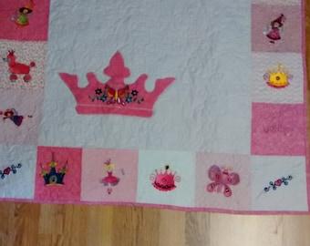 36x36 Fairy Princess Baby/Child Quilt