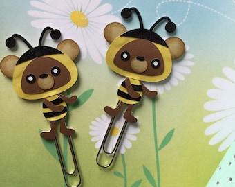 Bee bear paper clip