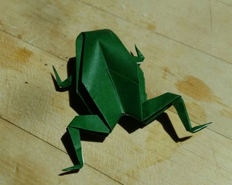 Origami Frog // Folded Paper Art // Gifts // Party Favors // Wedding Favors