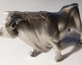 Bull Figurine - Pewter