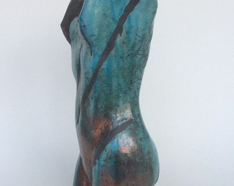 Large female raku sculpture