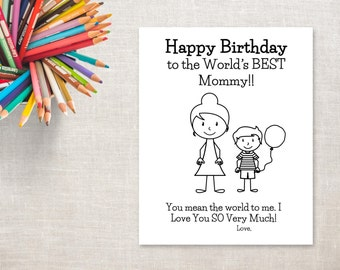 Mom Bun Card
