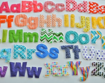 Upper/lowercase Magnetic Fabric Letter Set
