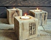 Set 3 Door Candles Pallet socket