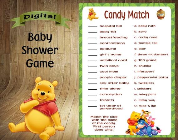 Winnie The Pooh Baby Shower Game Winnie The Pooh Baby Shower