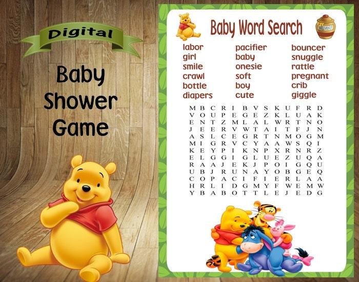 winnie the pooh baby shower game winnie the pooh by digitaldelites