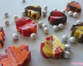 Chocolate Fall Leaves