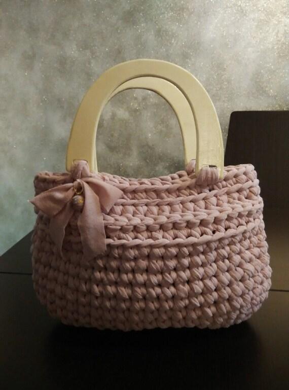 Items Similar To Crochet T Shirt Yarn Bag Purse With