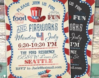 4th Of July Party July4th  You Print Digital File