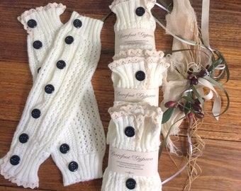 Warm and cozy pair of arm warmers / leg warmers / fingerless gloves