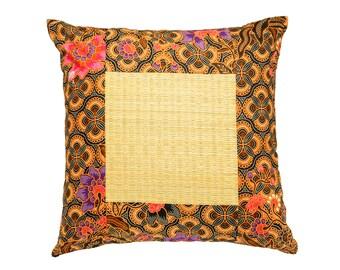 Floral Batik Cushion