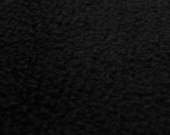 Polar Fleece (black) micro fleece fabric - 0, 5m
