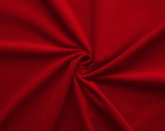 Gem - velvet fabric (red) cotton - 0, 5m