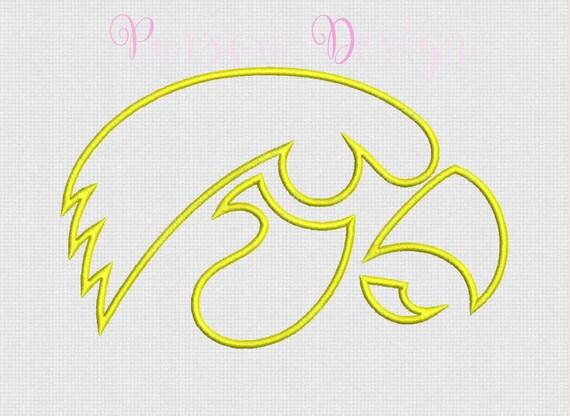Lowa hawkeyes size appliqu� design embroidery by
