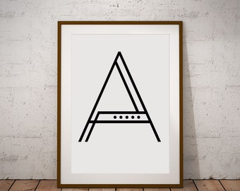 Graphic Geometric Initial poster