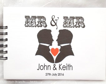 Personalised Mr & Mr . Mrs Mrs . Mr Mrs . Wedding Engagement Anniversary Photo Scrapbook Album Guest Book