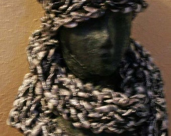 Hand made knitted scarf and cap