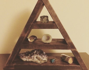 Floating Triangle Geometric Shelf