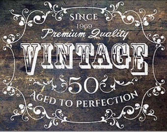 Aged to perfection invitation