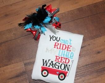 Girls Red Wagon Shirt
