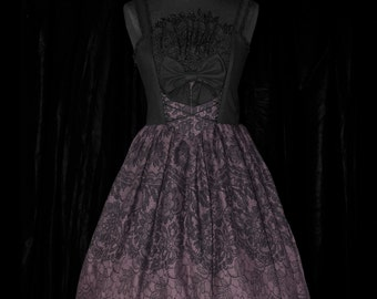 "Dress strapless printed lace or embroidered ""romantic garden"""