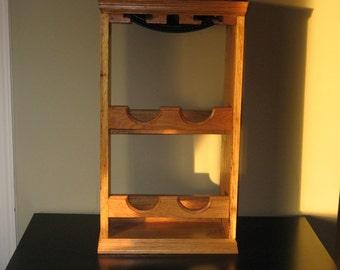 Solid Oak Wine Rack