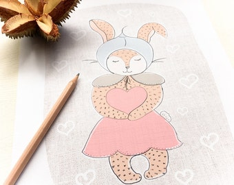 Some Bunny to Love - Art Print