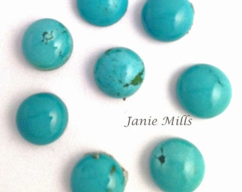 Turquoise 8 mm cabochons