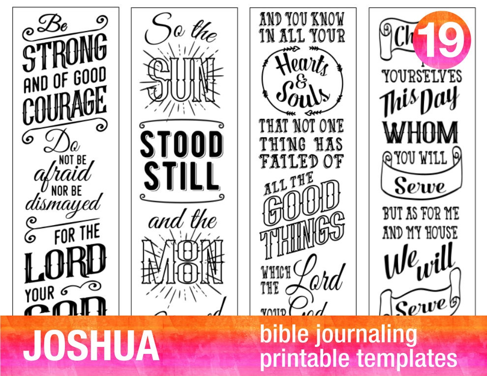 JOSHUA 4 Bible journaling printable
