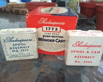 3 Shakespeare Fishing Boxes with Contents  Vintage