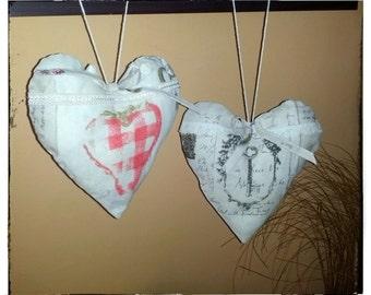 Pair of decorative handmade pillows