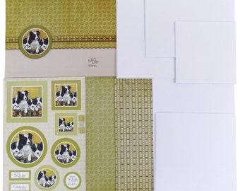 Border Collie Paper Card Making Kit