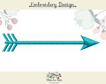 Arrow Satin Stitch Embroidery Design