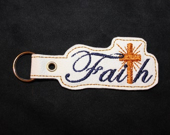 White Faith Keychain