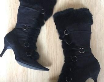 Vintage Rabbit Fur boots