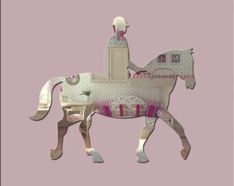 Acrylic 'Horse Rider' Safety Mirror - Range of Sizes