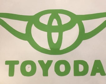 """Toyota """"Toyoda"""" Car Decal - Choose Your Color"""