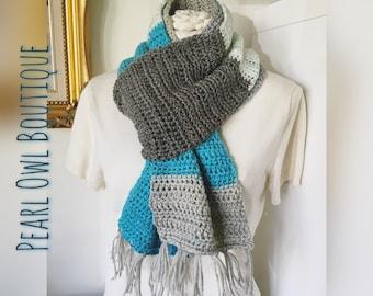 Winter Breeze Scarf; Grey; Scarf; Mens; Unisex