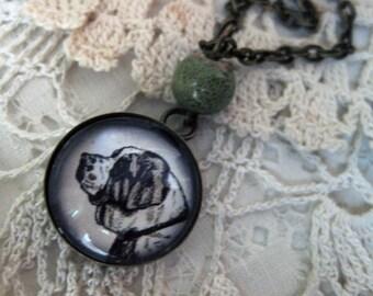 St Bernard pendant necklace