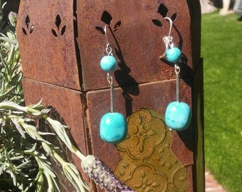 Natrual stone earrings sterling silver