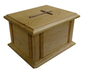 Cornerpost Cross Cremation Urn
