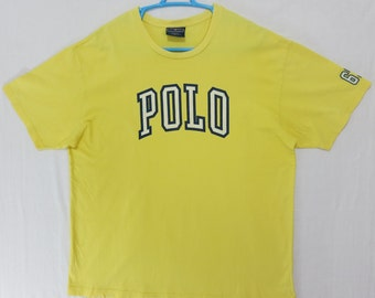 Polo Sport T Shirt Vintage Polo Sport Ralph lauren T Shirt Spell Out Large
