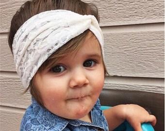 Baby top knot turban headband