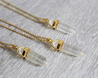 Pendant Necklace with chakra gemstone Crystal pendant