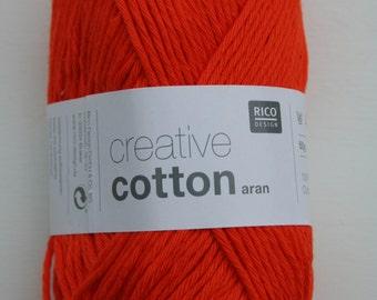 Rico Creative Cotton Aran Orange 074