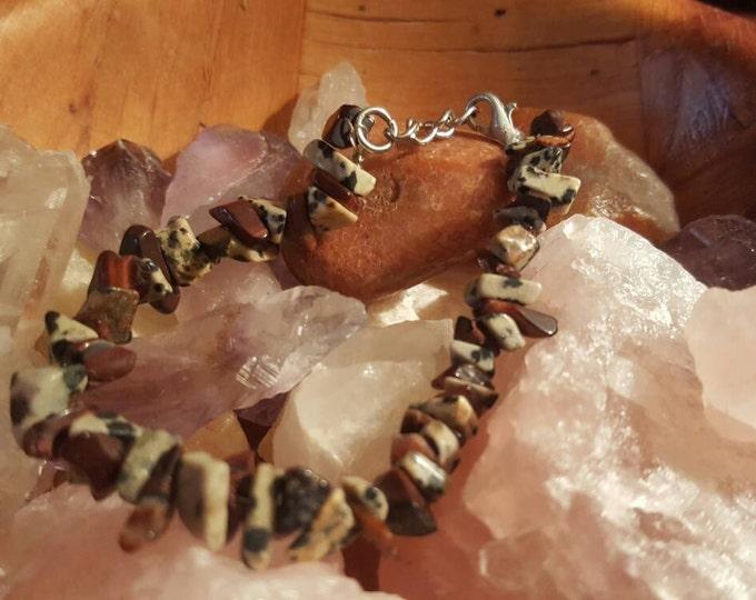 Jasper Dalmatian and Tigers Eye Bracelet