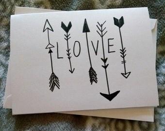 arrow of love card