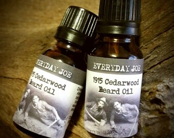 Beard Oil, Beard Conditioner, Natural Beard Oil, Beard Care, Men's Grooming, Beard Balm, Beard Grooming, Beard Kit, Men's Gift  - .5 oz.